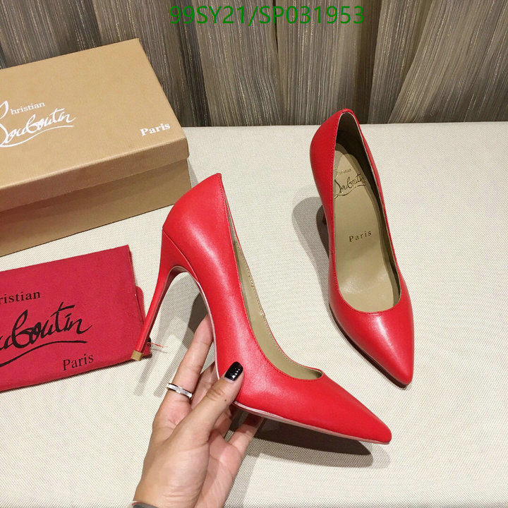 Christian Louboutin 2021 new women's wedding shoes sweet style 10.5 cm high-heeled leather single shoes party casual high heels CL women's shoes