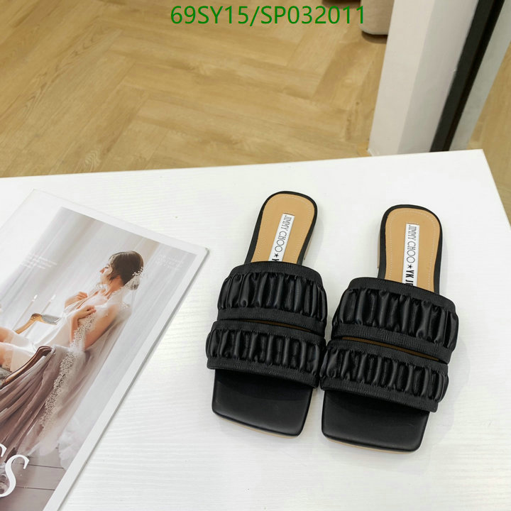 Jimmy Choo fashionable slippers vacation casual slippers fashionable women's shoes