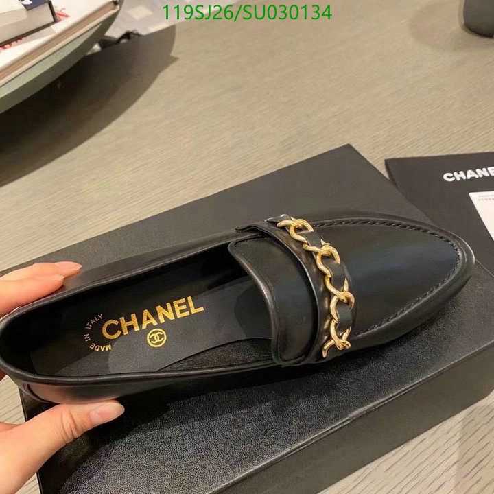 CHANEL loafers flat shoes chain decoration deep-mouth shoes women's shoes