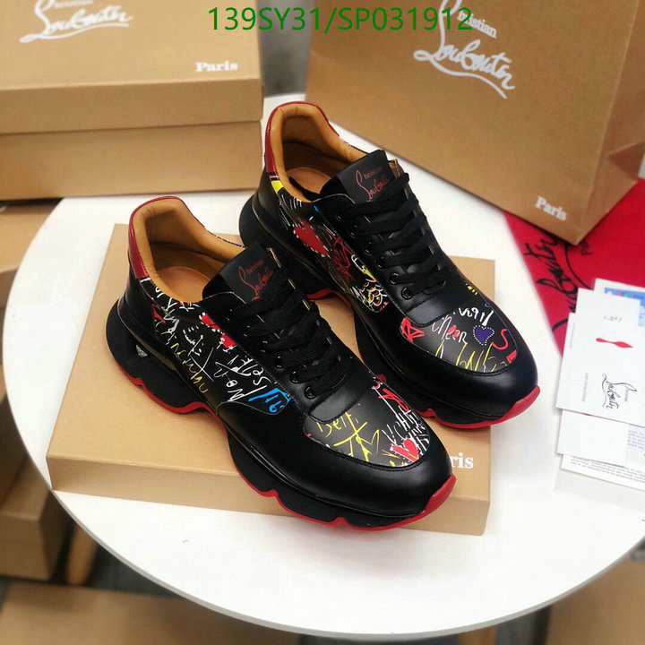 Christian Louboutin black and white running shoes outdoor casual soles men's sports shoes couple shoes CL shoes