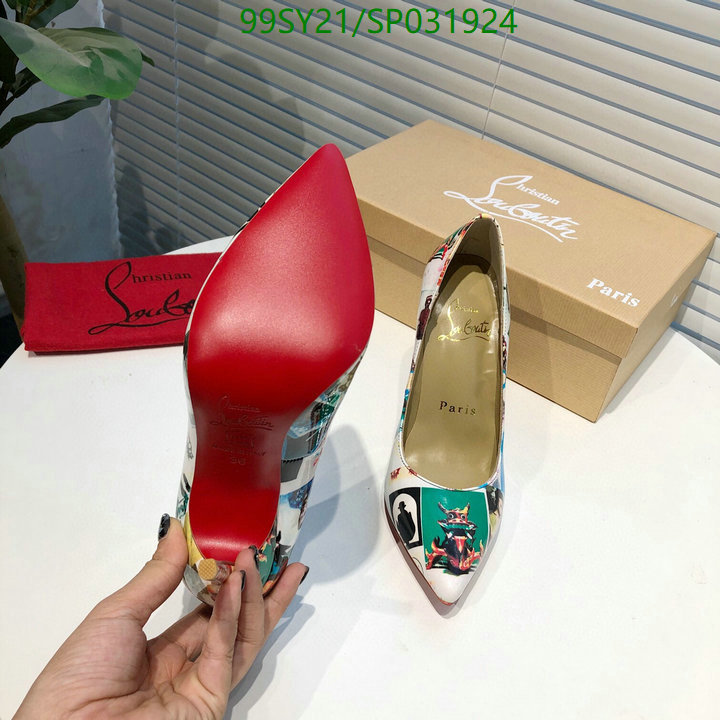 Christian Louboutin sexy fashion high heels 3D printed pattern CL women's shoes