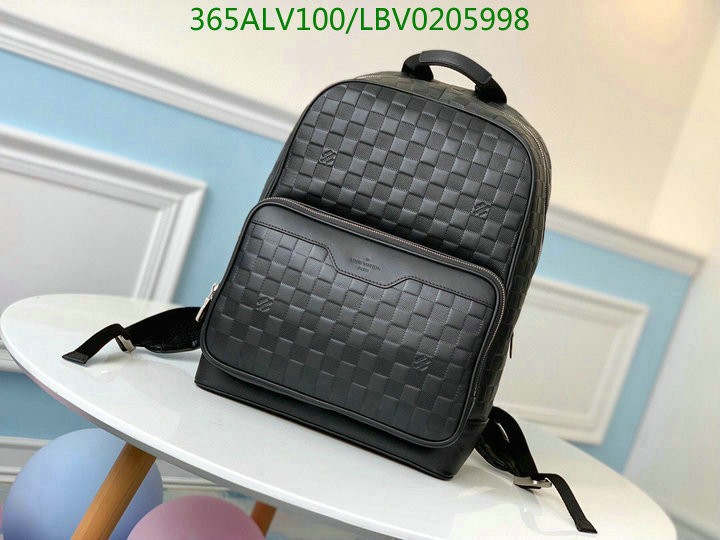 Louis Vuitton Classic Large Capacity Black Backpack Short Trip Backpack LV Bag N40094